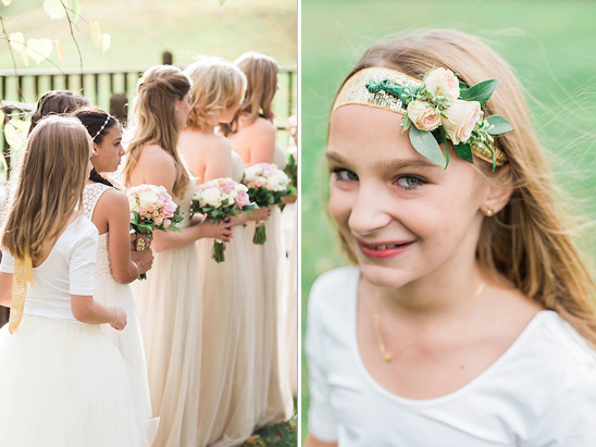 cute little rose head band for flower girl
