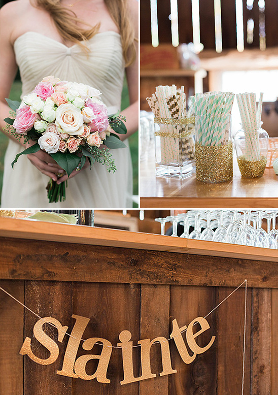 gold glitter wedding decor