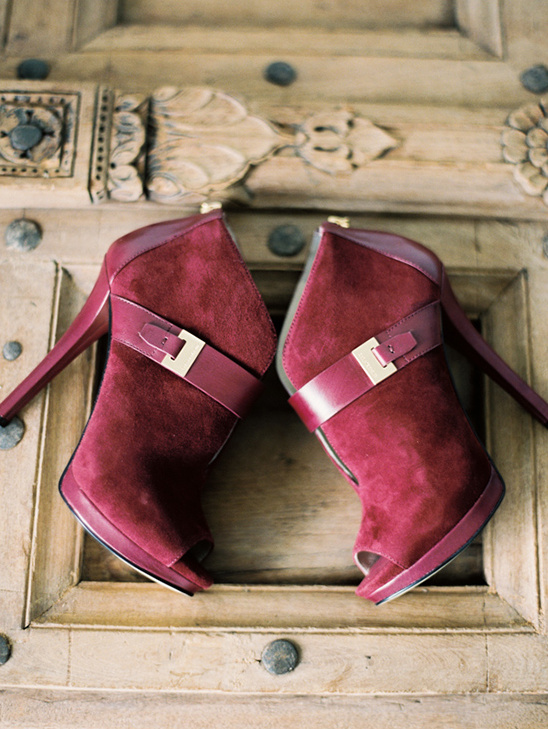 ruby red wedding booties