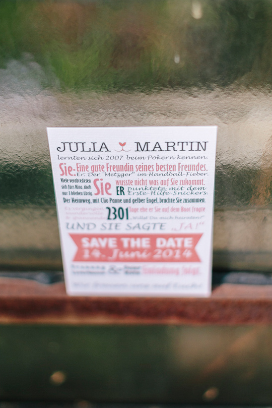 fun and modern wedding invitation