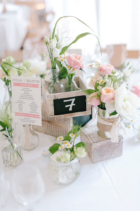 rustic shabby chic centerpiece
