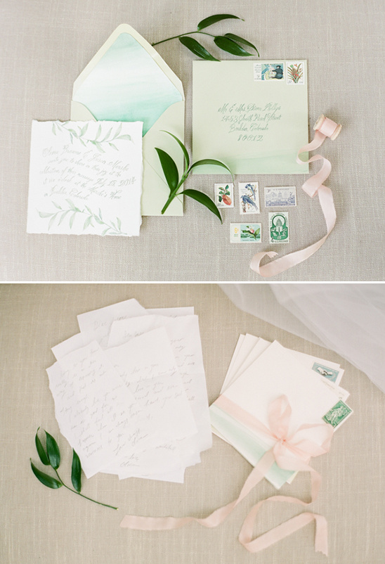 soft and intimate wedding stationery