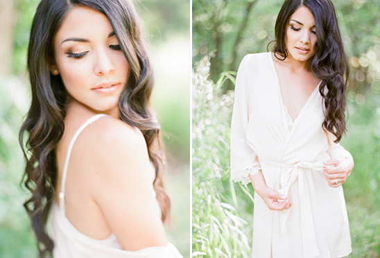 soft and romantic bridal look