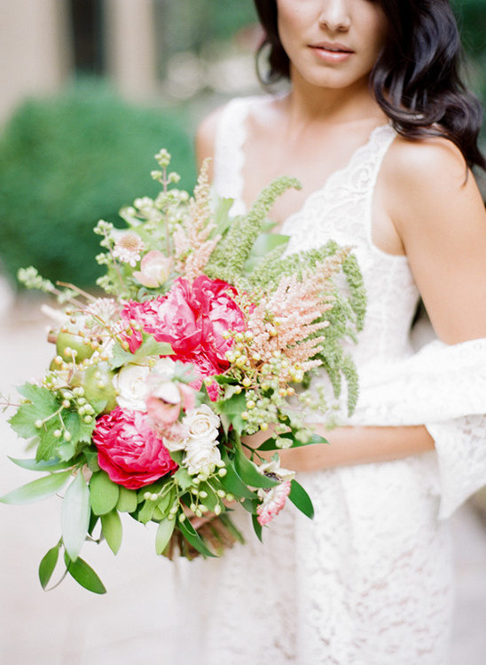 hot pink and blush bouquet