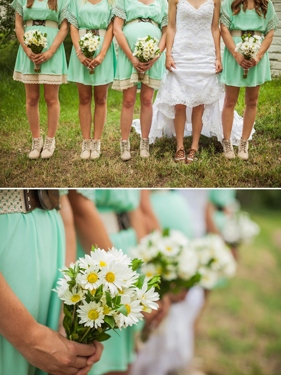 mint and lace bridesmaid dresses