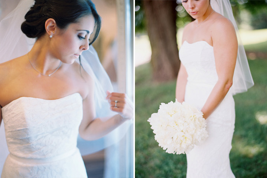 crisp and clean wedding dress by Galina