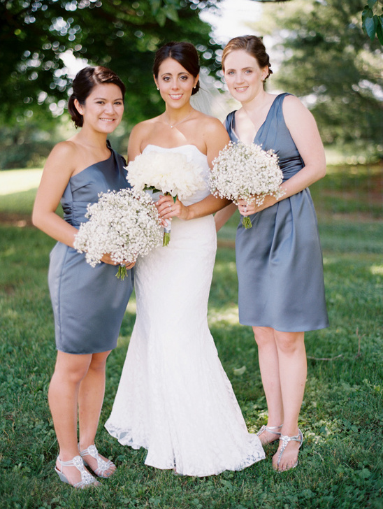 deep grey bridesmaid dresses