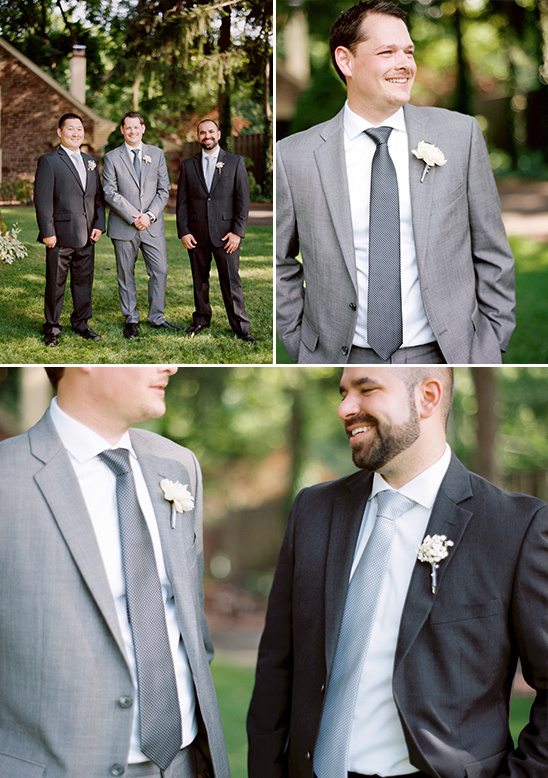 grey and white groomsmen look