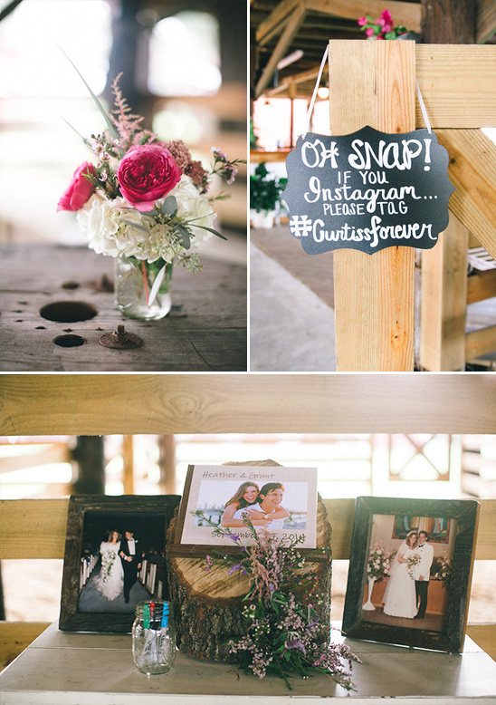 instagram and guest book table