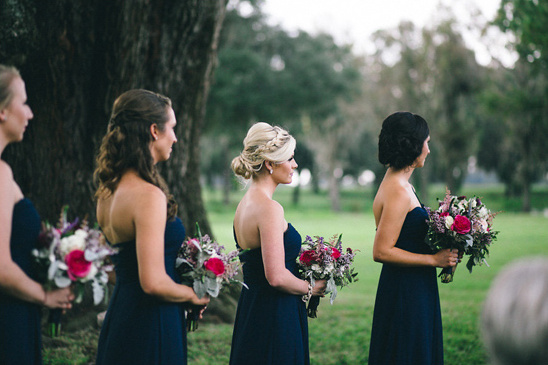 deep blue bridesmaid dresses