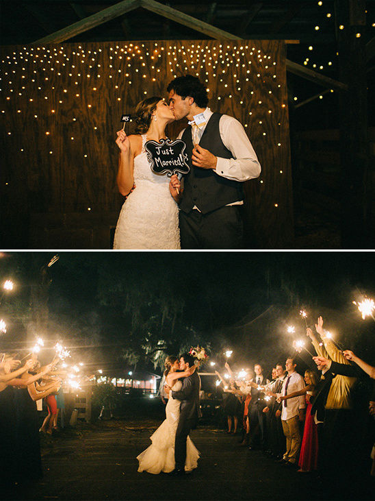 photobooth and sparkler exit