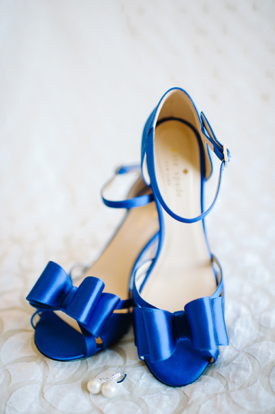 Kate Spade blue wedding shoes