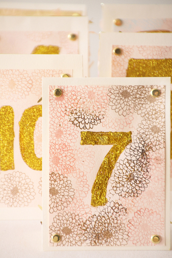 other side of paper fringe table numbers