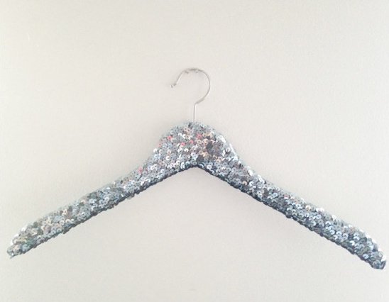 Sequin Hanger in Gunmetal
