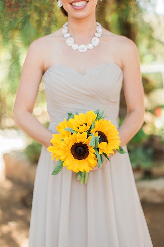 sunflower bridesmaids bouquet