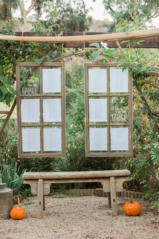 window pane wedding seating chart