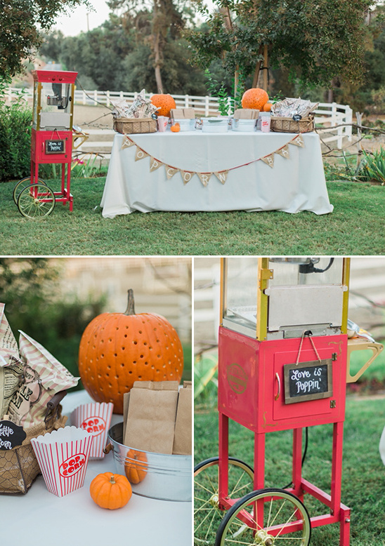 popcorn bar for wedding dessert
