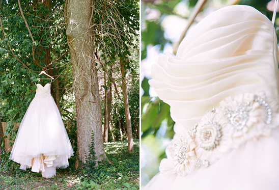 beautiful and delicate wedding gown