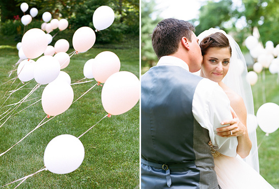 lots of balloons for your wedding