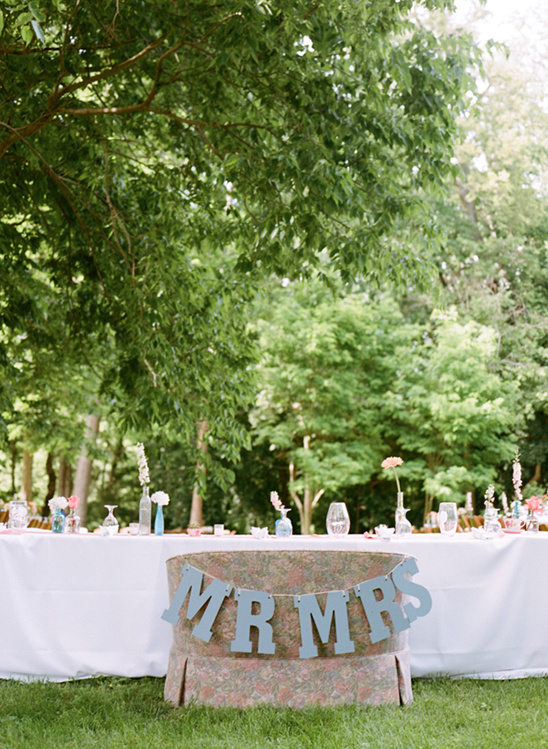 mr and mrs couch outdoor reception