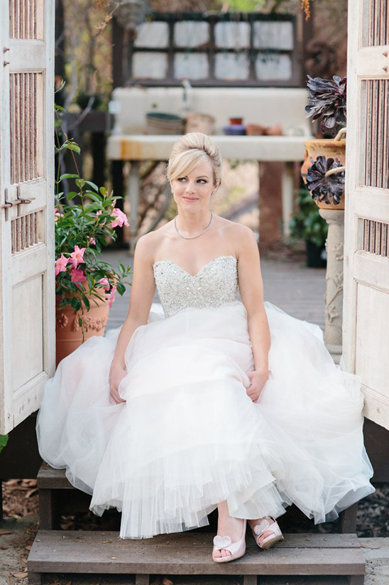 glamorous bride in a Maggie Sottero dress