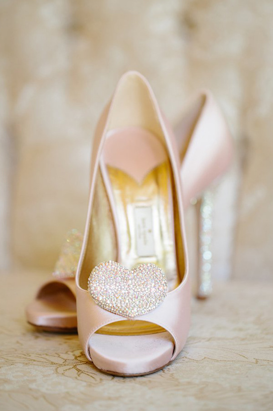 soft pink heart wedding shoes