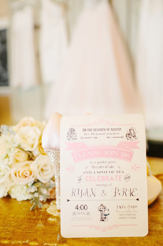 Vintage Pink Wedding Invitation