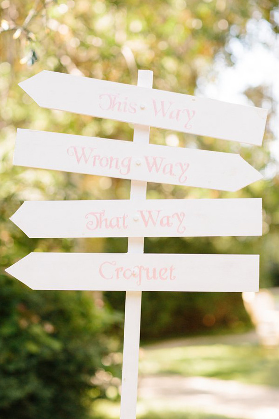 whimsical wedding sign