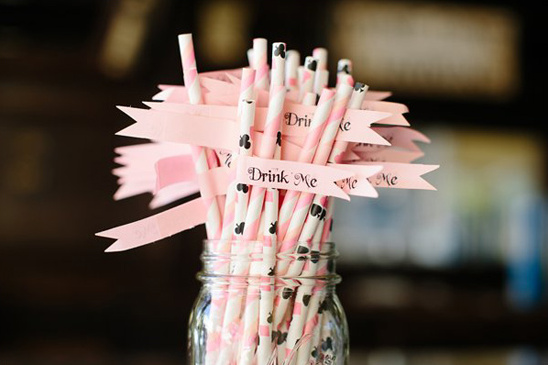 drink me wedding straws