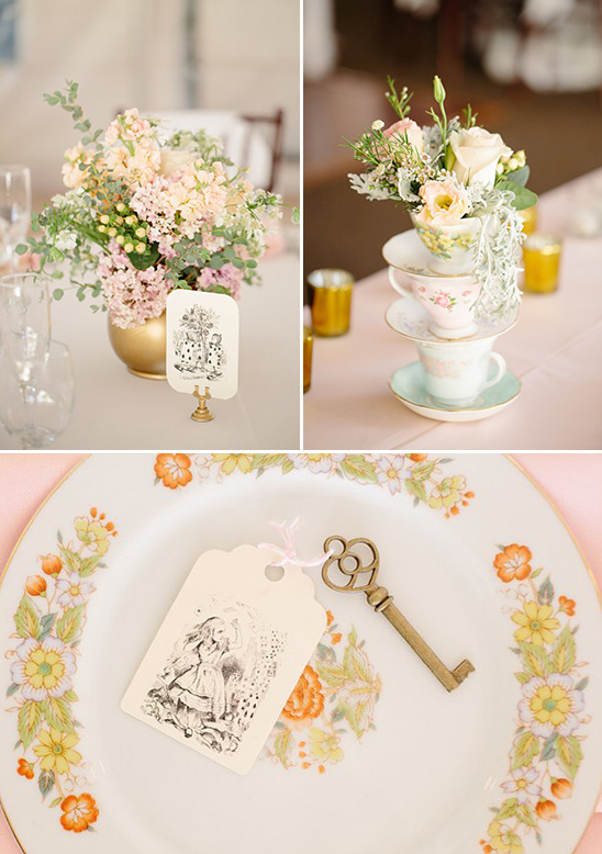 subtle Alice in Wonderland wedding theme