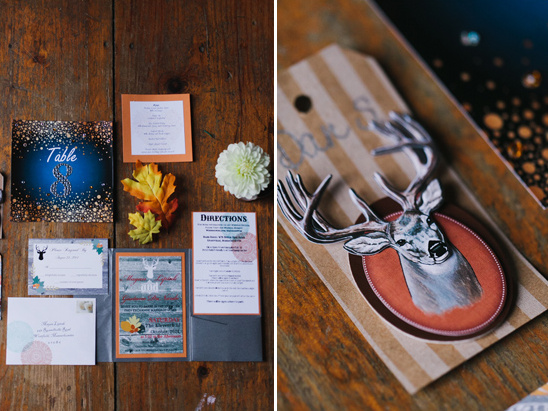 funky blue and orange stationery