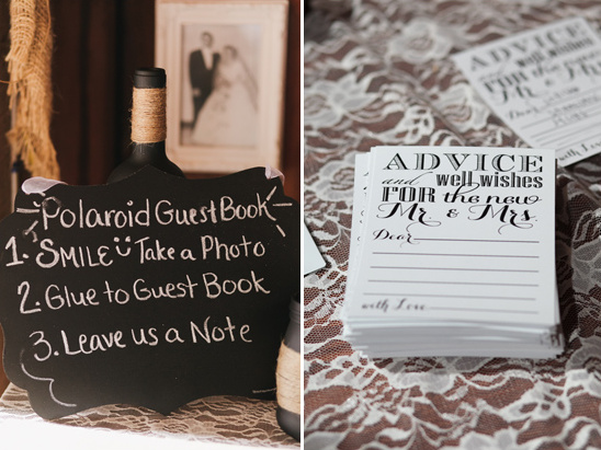 wedding advice note cards