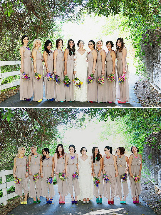 tan bridesmaids outfits