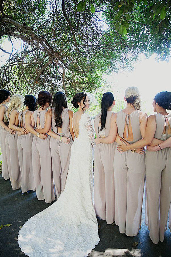 bridesmaids in pantsuits