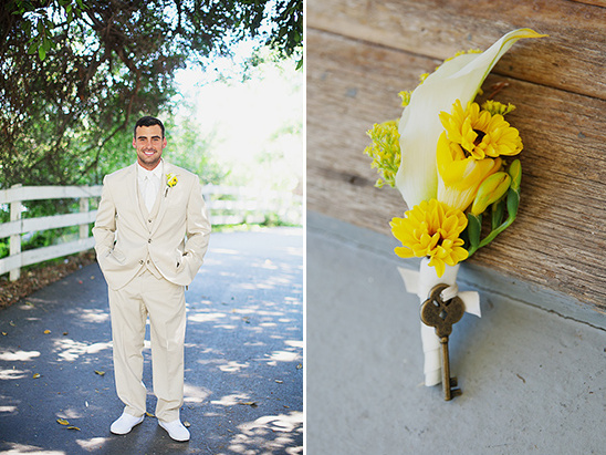 dashing khaki grooms attire