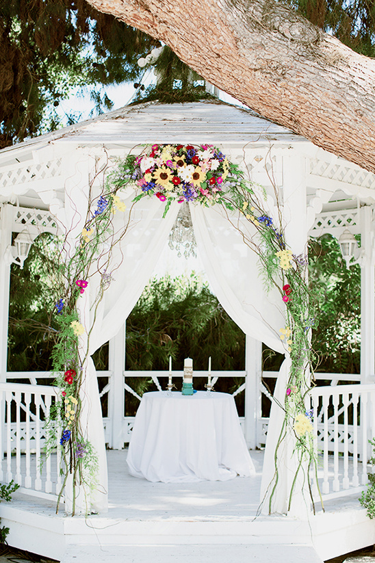 white wedding gazebo