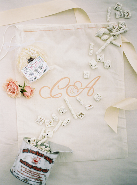 favor bag with assorted goodies