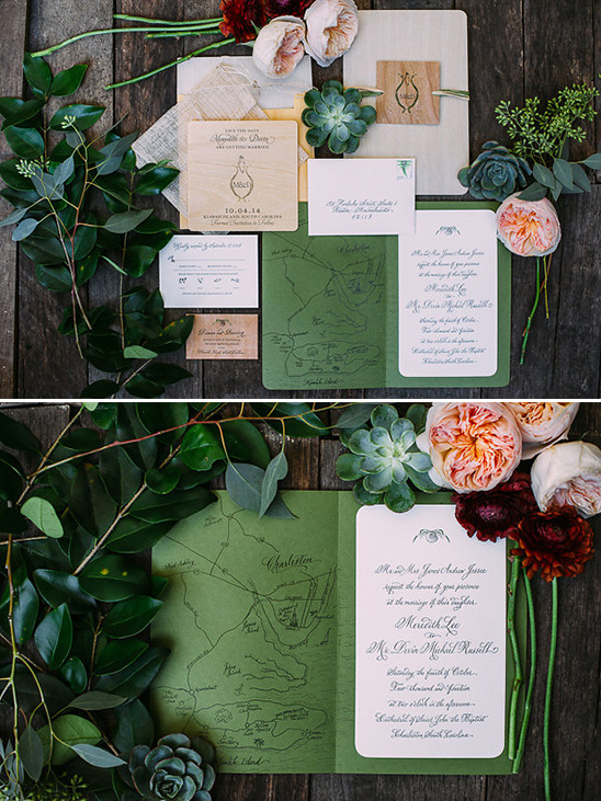 organic wedding stationery
