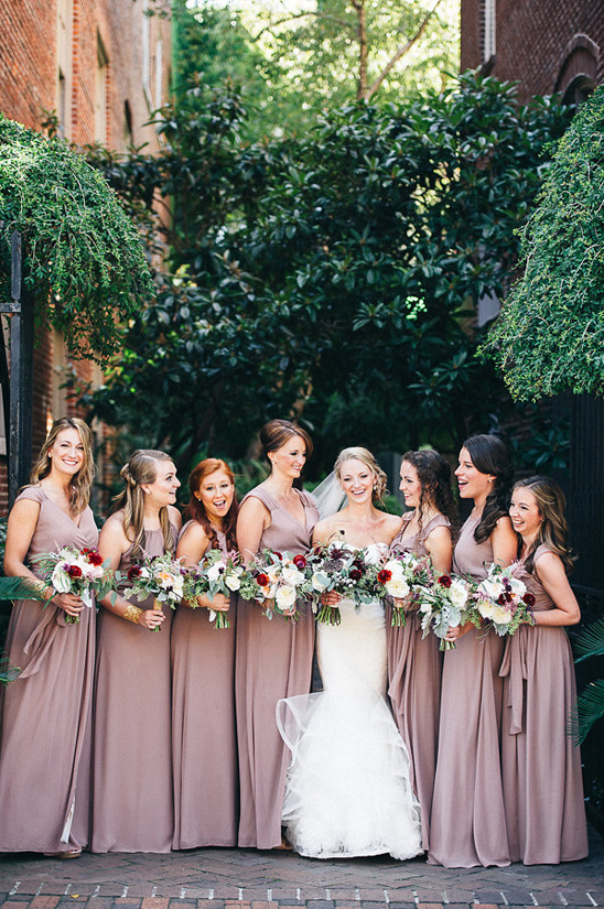 dusty purple bridal party