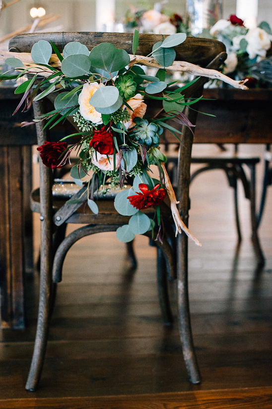 beautiful floral seat decor
