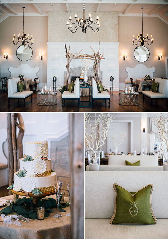 elegant and organic reception decor