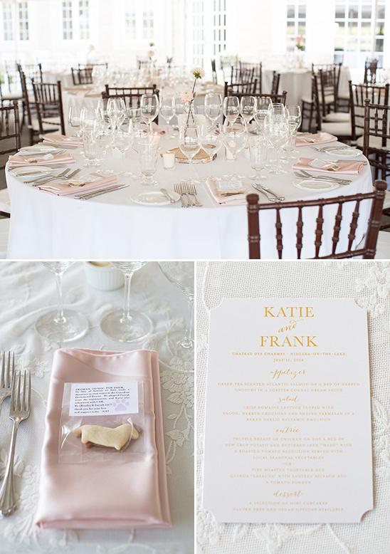 light pink formal dinner reception