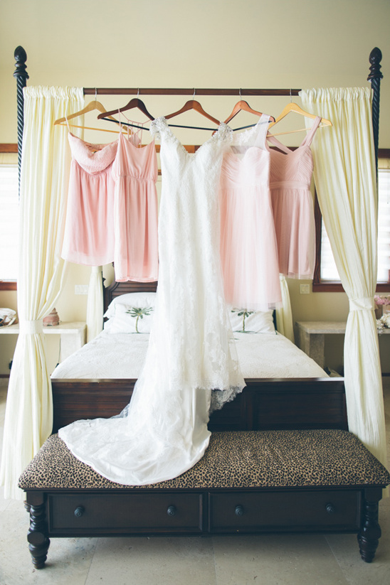 light pink bridesmaids dresses