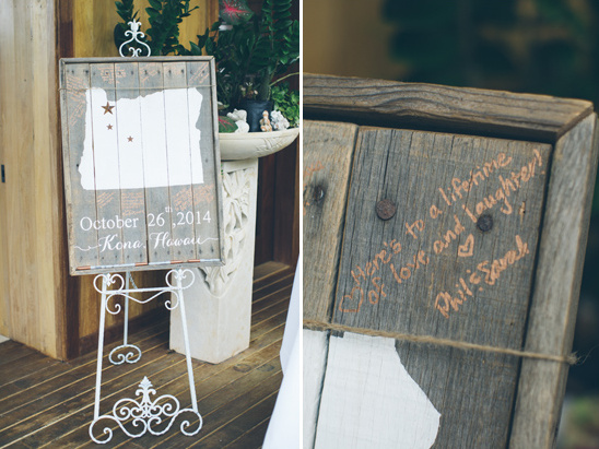 rustic guest book plaque