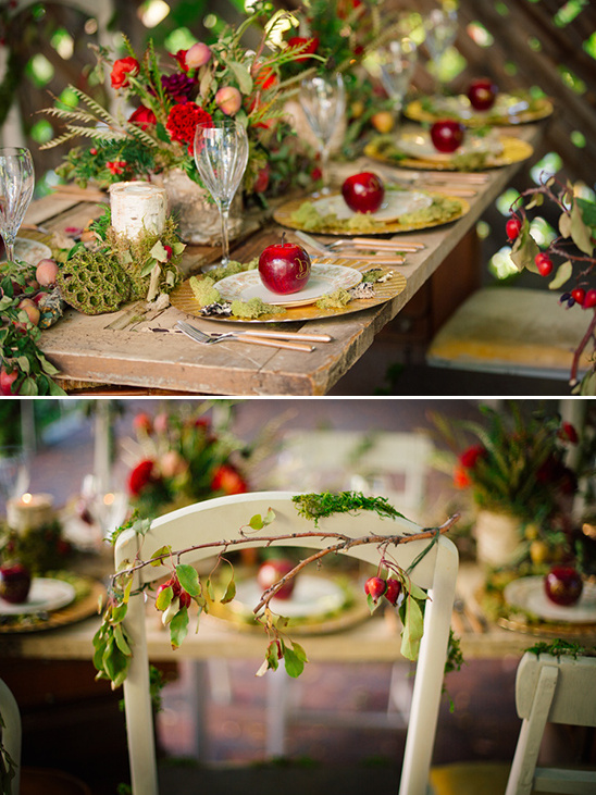 whimsical fairytail themed wedding table