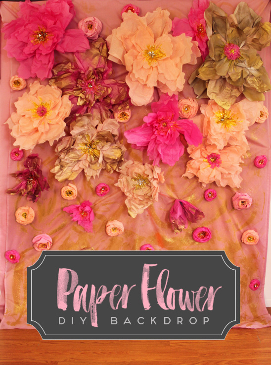 Paper Flower DIY Backdrop
