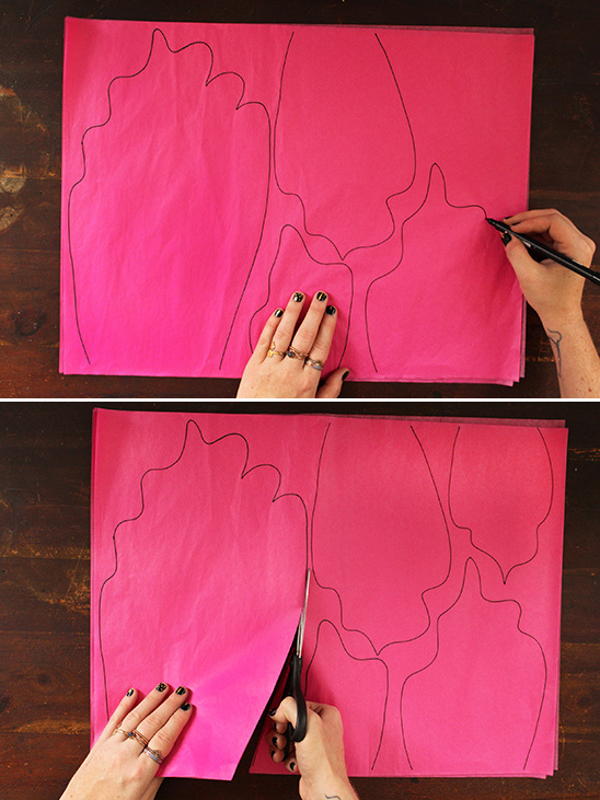 draw out petals and cut out
