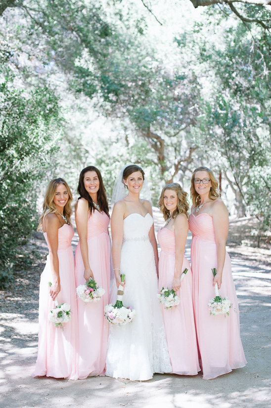 light pink bridesmaids