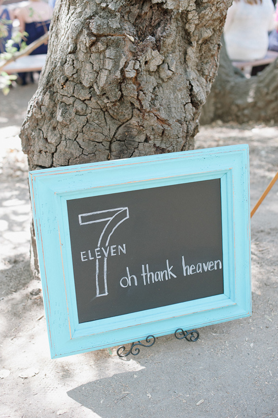 oh thank heaven seven eleven wedding sign