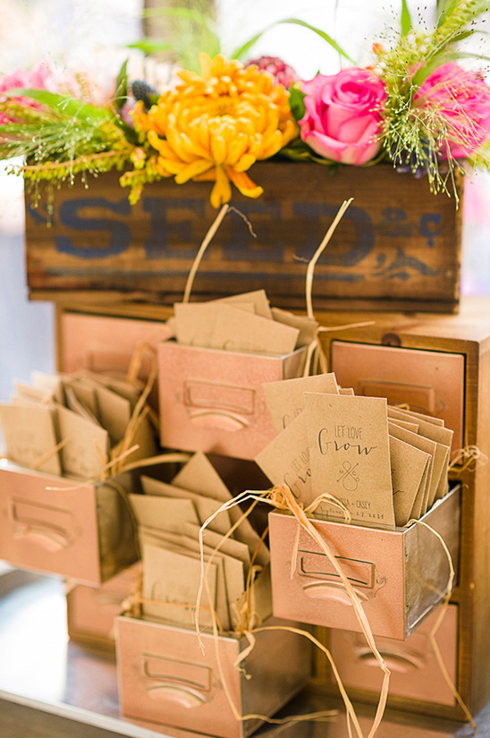 let love grow wedding seed favors
